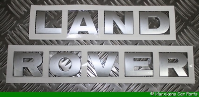 OPLEGLETTERS LAND ROVER SILVER LOOK  PER SET