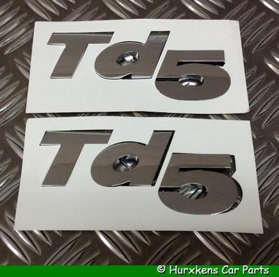 OPLEGLETTERS TD5 - CHROME  PER SET