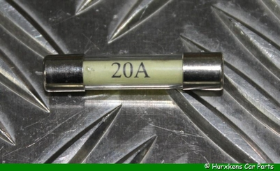 GLASZEKERING 20 AMPÈRE  PER STUK