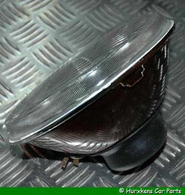 KOPLAMP PLAT GLAS 7 INCH MET STADSLICHT H4