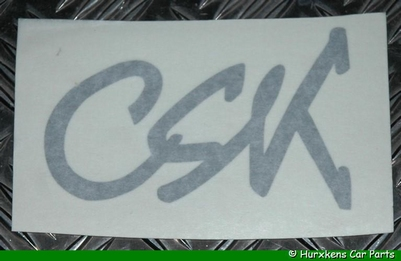 CSK STICKER ZILVER