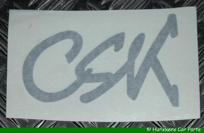 CSK STICKER ZILVER
