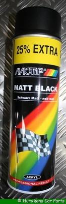 MAT ZWART - MOTIP 500 ML PER STUK