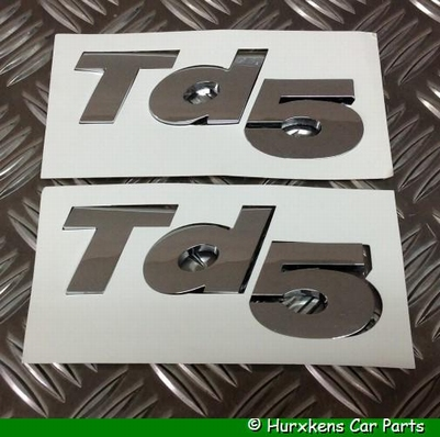 OPLEGLETTERS TD5 - CHROME PER SET