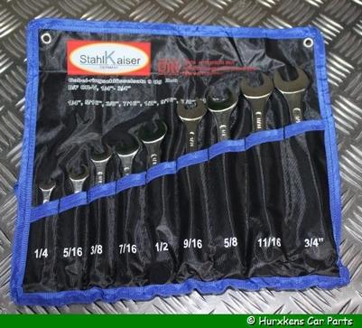 STEEK/RING SLEUTELSET 9-DELIG (UNF/INCH)
