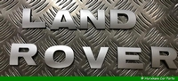 LAND ROVER LETTERS MOTORKAP - ZILVER