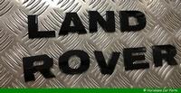 LAND ROVER LETTERS MOTORKAP - ZWART